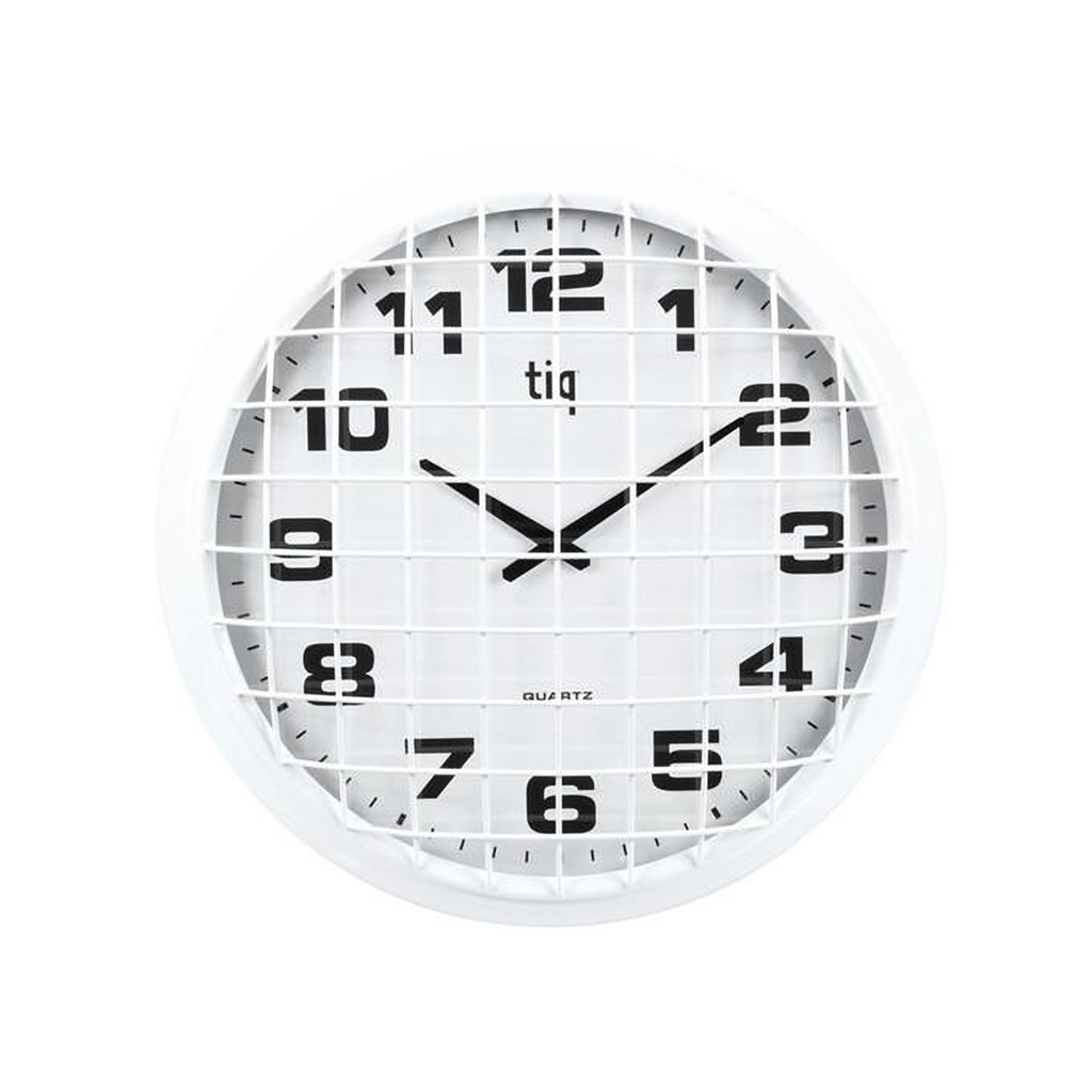 "TIQ 16"" Wall Clock, White"