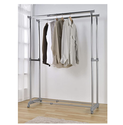 Adjustable Garment Hanger with Wheels