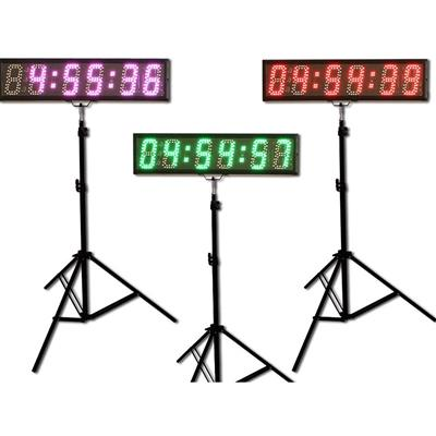 "LED Race Clock with Tripod for Running Events,  5"" 6 Digits"