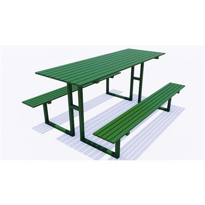 Outdoor Picnic Table with Benches, 2.28m x 1.72m