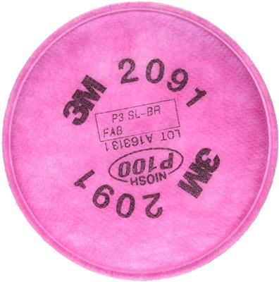 3M Particulate Filters P100 #2091/07000 (Pack of 8)