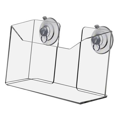 Marketing Holders /w Wall Mount and Suction Cup, Clear Acrylic (Pack of 5)