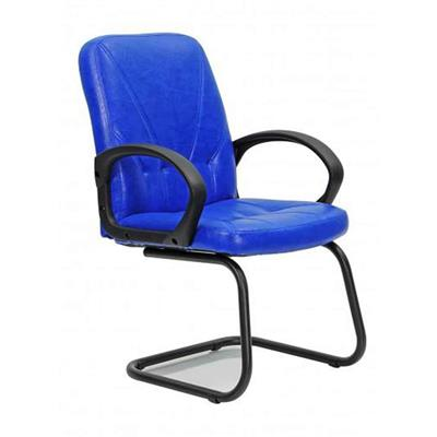 Legend S Visitor Chair, Metal Frame, Textile Upholstery, 75-Pack - C03 Blue+Black Upholstery