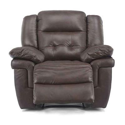 La-Z-Boy Nashville Rocker Recliner Chair w/ Wooden Handle, Black, 1 Pack