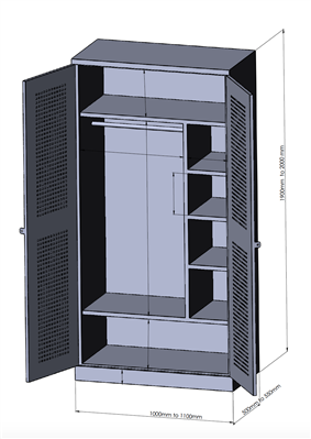 2 Door Wall Locker (Delivery to Ukraine ONLY)