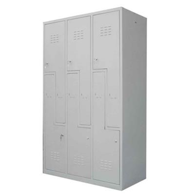 Metal Wall Lockers - Built on Demand (Multiple Variants), 3-Lockers; S-Door