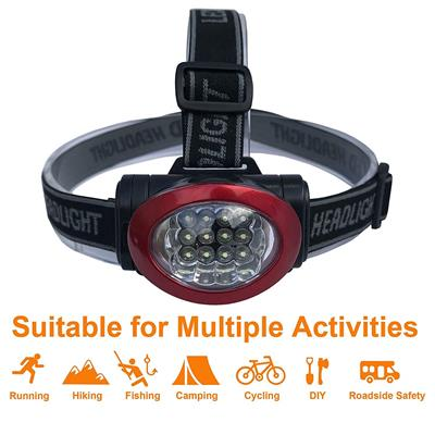 Lichamp Headlamp, 12 LED 3 Mode Portable Head Lamp Flashlight (Pack of 20)