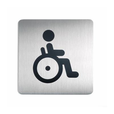 Pictogram: WC disabled format: 150 x 150 mm, silver