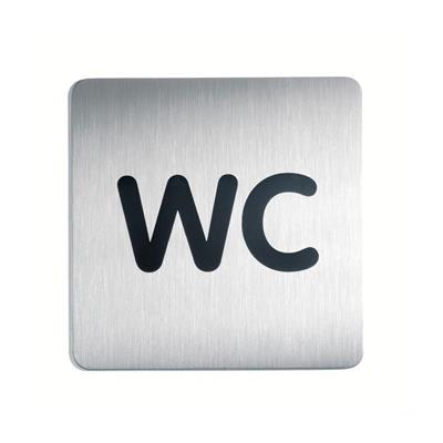 Pictogram: ''WC'' format: 150x 150 mm, silver