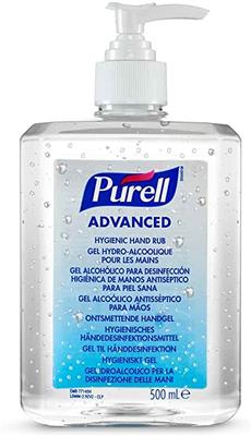 PURELL® Advanced Hygienic Hand Rub, 500ml Pump Bottle (Case of 12 Bottles)